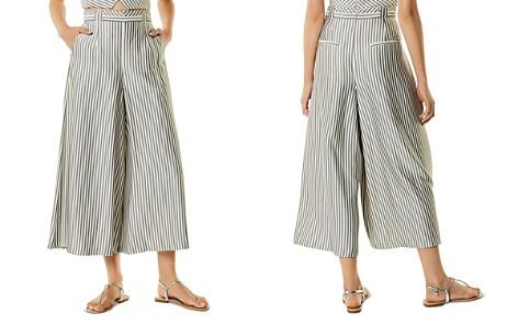 KAREN MILLEN Striped Pleated Culottes - Bloomingdale's_2
