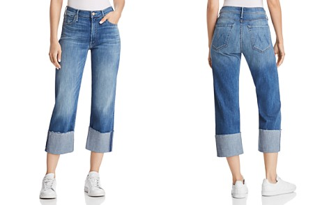 MOTHER The Dusty Cuff Frayed Jeans in Mums the Word - Bloomingdale's_2