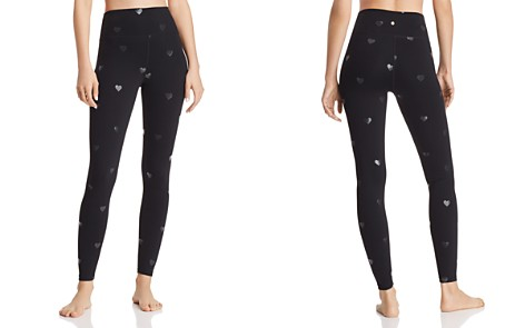 Spiritual Gangster Heart Foil Print Ankle Leggings - Bloomingdale's_2