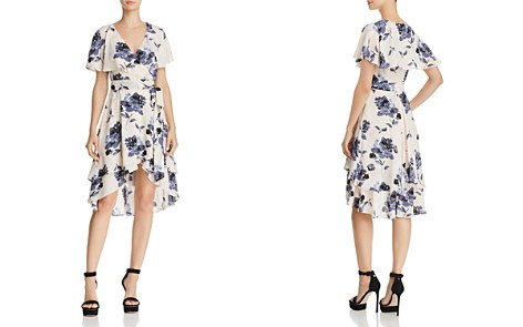 Olivaceous Ruffled Floral Print Wrap Dress - 100% Exclusive - Bloomingdale's_2