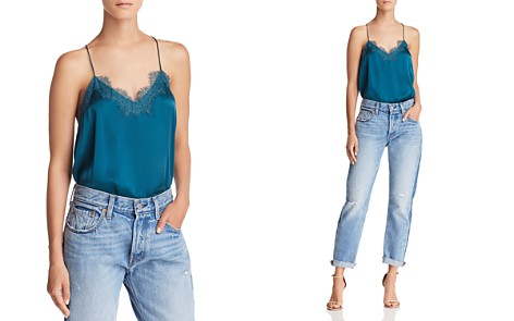CAMI NYC Lace-Trimmed Silk Top - Bloomingdale's_2