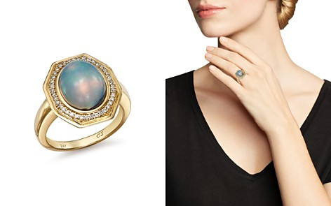 Bloomingdale's Ethiopian Opal & Diamond Cocktail Ring in 14K Yellow Gold - 100% Exclusive _2