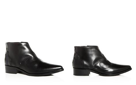 Freda Salvador Women's Arroyo Leather Western Pointed Toe Booties - Bloomingdale's_2