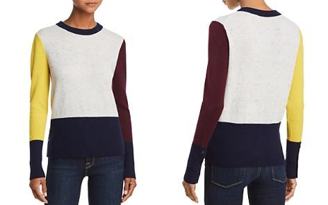 AQUA Cashmere Color-Block Cashmere Crewneck Sweater - 100% Exclusive - Bloomingdale's_2