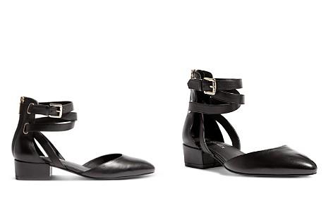 KAREN MILLEN Women's Leather Ankle Strap d'Orsay Pumps - Bloomingdale's_2