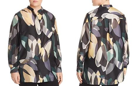 Lafayette 148 New York Plus Brayden Printed Silk Blouse - Bloomingdale's_2