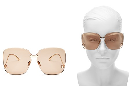 Gucci Oversized Rimless Square Sunglasses, 75mm - Bloomingdale's_2