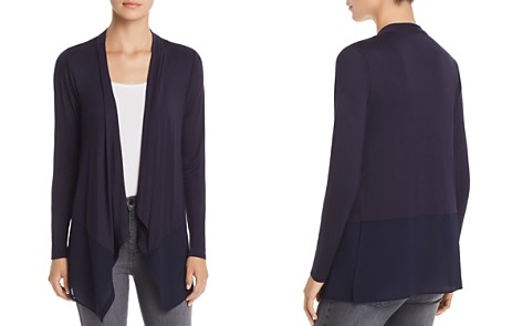 Avec Mixed Media Waterfall Cardigan - Bloomingdale's_2