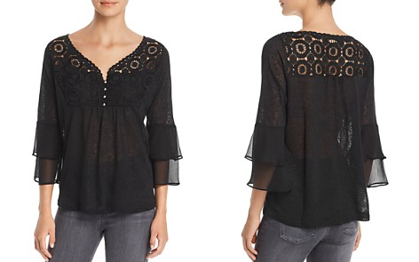 Avec Mixed Media Tiered-Sleeve Top - Bloomingdale's_2