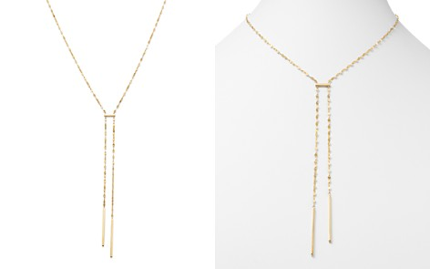 """Moon & Meadow Flat Link Bar Drop Necklace in 14K Yellow Gold, 17"""" - 100% Exclusive - Bloomingdale's_2"""