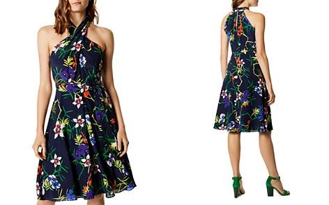 KAREN MILLEN Floral Print Silk Dress - Bloomingdale's_2