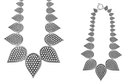 "LAGOS Sterling Silver Bold Caviar Graduated Teardrop Collar Necklace, 18"" - Bloomingdale's_2"