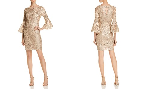 Aidan Mattox Embellished Bell-Sleeve Dress - Bloomingdale's_2