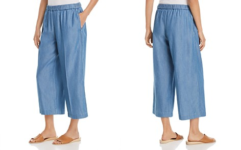 MICHAEL Michael Kors Chambray Wide-Leg Cropped Pants - Bloomingdale's_2
