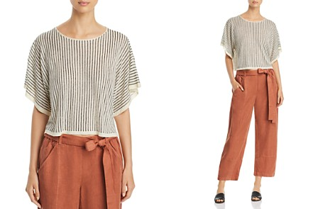 Eileen Fisher Petites Striped Box Top - Bloomingdale's_2