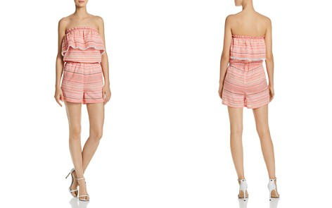 AQUA Stripe Strapless Romper - 100% Exclusive - Bloomingdale's_2