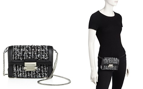 MICHAEL Michael Kors Jayne Tweed & Leather Convertible Belt Bag - 100% Exclusive - Bloomingdale's_2