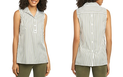Foxcroft Dani Sleeveless Striped Cotton Top - Bloomingdale's_2