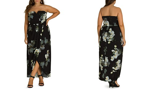 City Chic Plus Orchid Dreams Strapless Maxi Dress - Bloomingdale's_2