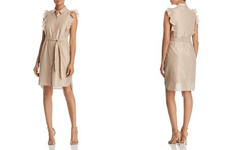 T Tahari Abby Metallic Striped Shirt Dress - 100% Exclusive - Bloomingdale's_2