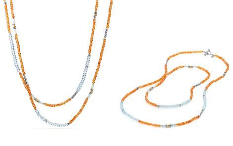 David Yurman Tweejoux Bead Necklace in Orange Chalcedony, Blue Topaz & Amazonite with 18K Gold - Bloomingdale's_2