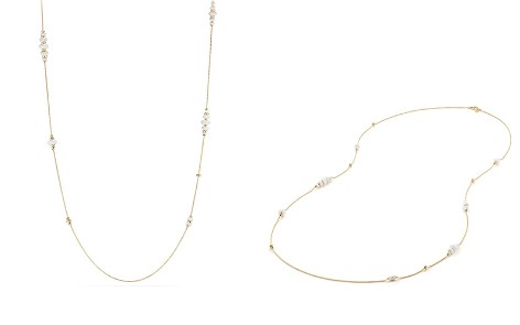 David Yurman Rio Rondelle Long Station Necklace with White Agate in 18K Gold - Bloomingdale's_2