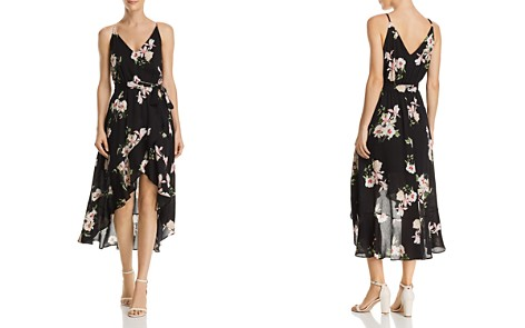 AQUA Floral Print Gauze High/Low Dress - 100% Exclusive - Bloomingdale's_2