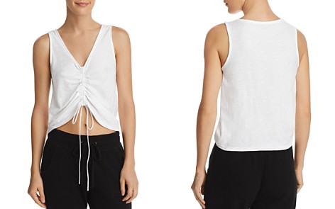 AQUA Ruched Drawstring Tank - 100% Exclusive - Bloomingdale's_2