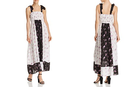 AQUA Color-Block Floral Print Maxi Dress - 100% Exclusive - Bloomingdale's_2