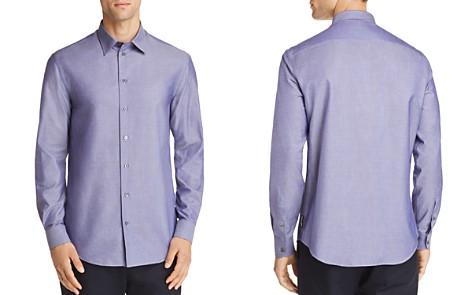 Emporio Armani Micro Print Regular Fit Button-Down Shirt - Bloomingdale's_2