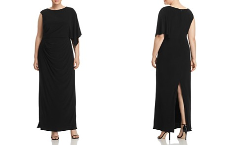 Adrianna Papell Plus Jersey One-Sleeve Maxi Dress - Bloomingdale's_2