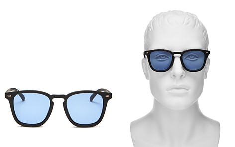 Le Specs No Biggie Modern Rectangle Sunglasses, 49mm - 100% Exclusive - Bloomingdale's_2