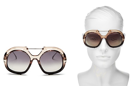 Fendi Women's Brow Bar Round Sunglasses, 55mm - Bloomingdale's_2