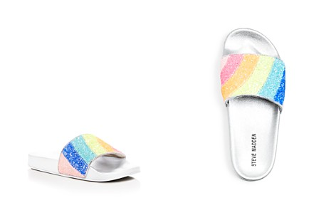 Steve Madden Girls' Rainbow Glitter Pool Slide Sandals - Little Kid, Big Kid - Bloomingdale's_2