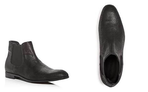 Armani Men's Snake Embossed Leather Chelsea Boots - Bloomingdale's_2