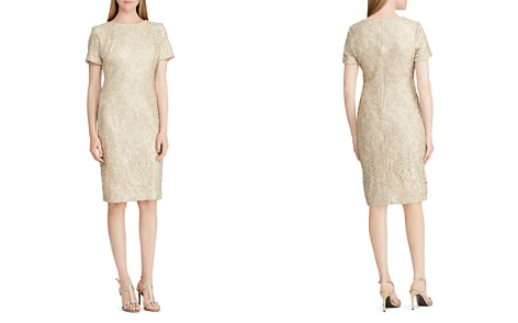 Lauren Ralph Lauren Short-Sleeve Floral-Lace Dress - Bloomingdale's_2