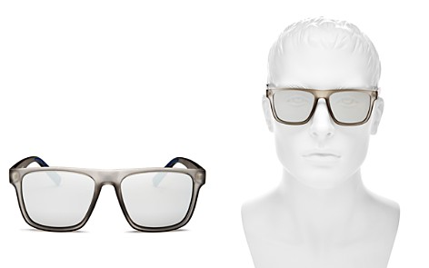 Le Specs Men's The Boss Mirrored Flat Top Square Sunglasses, 56mm - Bloomingdale's_2