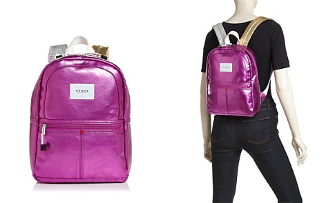 STATE Mini Kane Metallic Backpack - Bloomingdale's_2