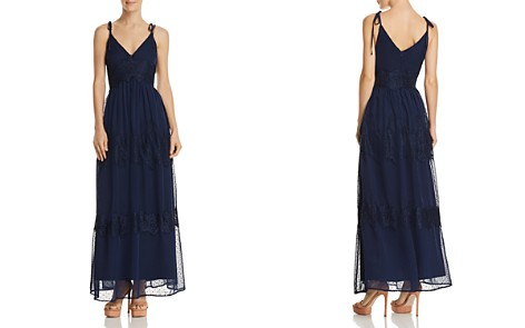 AQUA Swiss Dot & Lace Maxi Dress - 100% Exclusive - Bloomingdale's_2