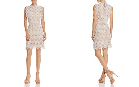 Lucy Paris Scalloped Lace Sheath Dress - Bloomingdale's_2