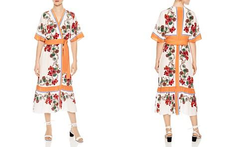 Sandro Joya Printed Silk Midi Wrap Dress - Bloomingdale's_2
