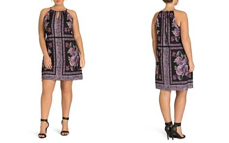 City Chic Plus Paisley Tile-Print Dress - Bloomingdale's_2