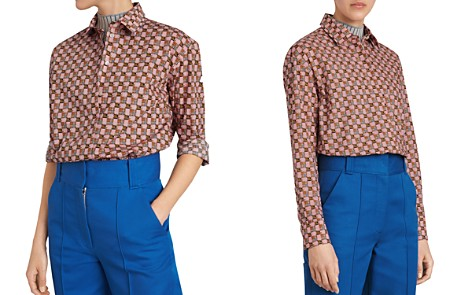 Burberry Kestrel Printed Button-Down Top - Bloomingdale's_2