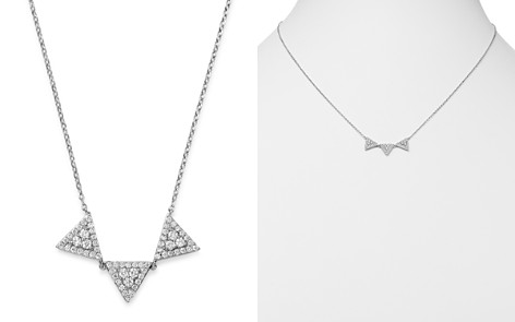 Bloomingdale's Diamond Triple-Triangle Pendant Necklace in 14K White Gold, 0.30 ct. t.w. - 100% Exclusive _2