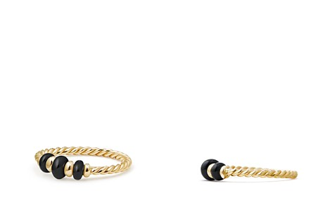 David Yurman Rio Rondelle Ring with Black Onyx in 18K Gold - Bloomingdale's_2