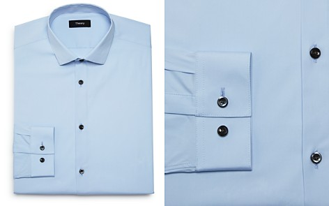 Theory Solid Slim Fit Dress Shirt - Bloomingdale's_2