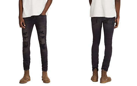 ALLSAINTS Battle Cigarette Slim Fit Jeans in Jet Black - Bloomingdale's_2