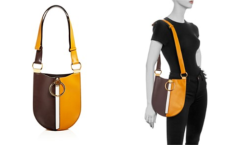 Marni Earring Color-Block Small Leather Hobo - Bloomingdale's_2