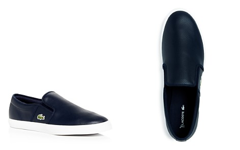 Lacoste Men's Gazon Perforated Leather Slip-On Sneakers - Bloomingdale's_2