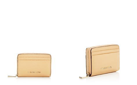 MICHAEL Michael Kors Money Pieces Zip-Around Leather Card Case - Bloomingdale's_2